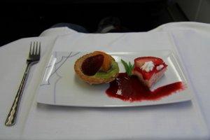 Desert - Strawberry cake, Fruit tart and Raspberry Coulis