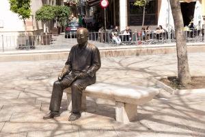 Pablo Picasso's statue in the Plaza de la Merced