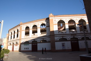 Bull fighting ring from the outside