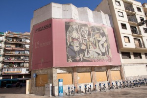 Art work promoting the 125th Anniversary of Picasso