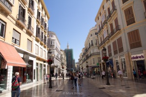 One of the main malls/streets of Malaga