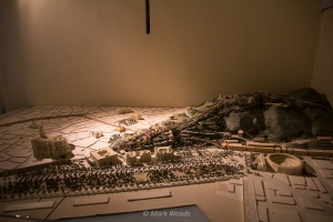 Models showing the city limits of the old city
