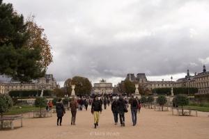 Pathway through the Tuileries Gardens